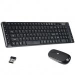 Набор клавиатура и мышь беспроводной Sonnen KB-S100, черный, USB