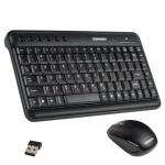 Набор клавиатура и мышь беспроводной Sonnen KB-S150, USB, черный