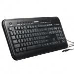 Клавиатура проводная USB Sonnen KB-M510, черная