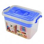 Ящик для хранения Полимербыт Школа, 6.5л, синий