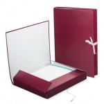 Архивная папка на завязках бордовая, А4, до 250 листов