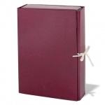 Архивная папка на завязках бордовая, А4, до 700 листов