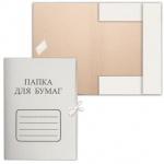 Картонная папка на завязках Бюджет белая, А4, до 200 листов