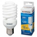 Лампа энергосберегающая Sonnen Т2 25(120)Вт, E27, холодный свет, 12000ч