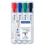 Маркер для досок Staedtler Lumocolor, 2мм, набор 4 цвета