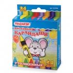 Набор восковых карандашей Пифагор 24 цвета, утолщенные, 222968