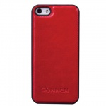 Чехол для Apple iPhone 5/5S Sonnen Elegance красный, пластиковый