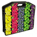 Сумка пластиковая Brauberg Fruits, на молнии
