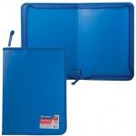 Пластиковая папка на молнии Brauberg Стандарт синяя, A4, 224057
