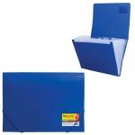 Пластиковая папка на резинке Brauberg Business синяя, A4, 224144