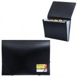 Пластиковая папка на резинке Brauberg Business черная, A4, 224145
