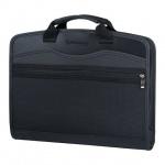 Сумка пластиковая Brauberg Business A4, 375х305х60, черная
