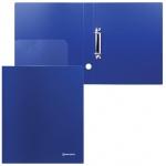 Папка на 2-х кольцах А4 Brauberg Диагональ синяя, 40 мм