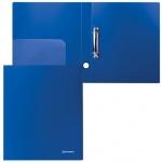 Папка на 2-х кольцах А4 Brauberg Стандарт синяя, 40 мм