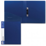 Папка на 2-х кольцах А4 Brauberg Contract, 35 мм, синяя