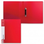 Папка на 2-х кольцах А4 Brauberg Contract, 35 мм, красная