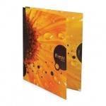 Папка на 2-х кольцах А4 Hatber iFRESH-цветок, 25мм