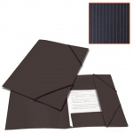 Пластиковая папка на резинке Brauberg Contract черная, A4, до 300 листов