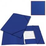 Пластиковая папка на резинке Brauberg Contract, A4, до 300 листов, синяя