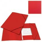 Пластиковая папка на резинке Brauberg Contract, A4, до 300 листов, красная