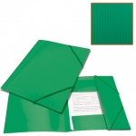 Пластиковая папка на резинке Brauberg Contract зеленая, A4, до 300 листов