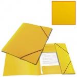 Пластиковая папка на резинке Brauberg Contract желтая, A4, до 300 листов
