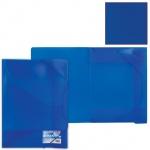 Пластиковая папка на резинке Brauberg Income синяя, A4, до 180 листов