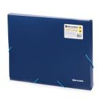 Пластиковая папка на резинке Brauberg Income синяя, A4, 50мм