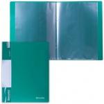 Папка файловая Brauberg Стандарт, А4, на 10 файлов, зеленая