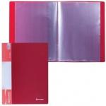 Папка файловая Brauberg Стандарт красная, А4, на 10 файлов