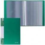 Папка файловая Brauberg Стандарт, А4, на 20 файлов, зеленая