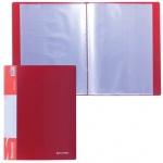Папка файловая Brauberg Стандарт, А4, на 20 файлов, красная