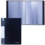 Папка файловая Brauberg Стандарт, А4, на 20 файлов, черная