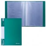 Папка файловая Brauberg Стандарт, А4, на 30 файлов, зеленая