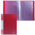 Папка файловая Brauberg Стандарт, А4, на 30 файлов, красная
