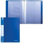 Папка файловая Brauberg Стандарт, А4, на 30 файлов, синяя