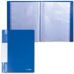 Папка файловая Brauberg Стандарт синяя, А4, на 60 файлов