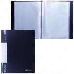 Папка файловая Brauberg Стандарт черная, А4, на 60 файлов