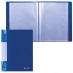 Папка файловая Brauberg Стандарт синяя, А4, на 80 файлов