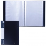 Папка файловая Brauberg Стандарт черная, А4, на 80 файлов