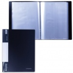 Папка файловая Brauberg Стандарт черная, А4, на 100 файлов