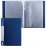 Папка файловая Brauberg Contract, А4, на 20 файлов, синяя