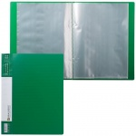 Папка файловая Brauberg Contract, А4, на 20 файлов, зеленая