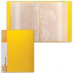 Папка файловая Brauberg Contract, А4, на 20 файлов, желтая