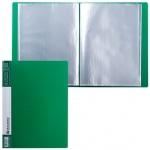 Папка файловая Brauberg Contract зеленая, А4, на 40 файлов