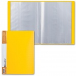Папка файловая Brauberg Contract желтая, А4, на 40 файлов