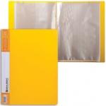Папка файловая Brauberg Contract желтая, А4, на 30 файлов