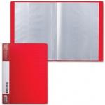 Папка файловая Brauberg Contract красная, А4, на 30 файлов