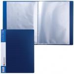 Папка файловая Brauberg Contract, А4, на 30 файлов, синяя