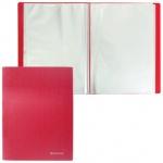 Папка файловая Brauberg Бюджет красная, А4, на 30 файлов